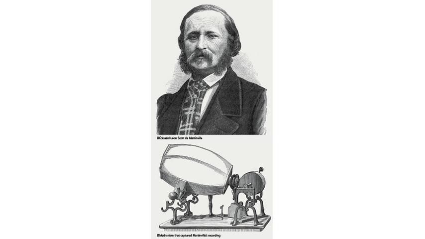 """Édouard-Léon Scott de  Martinville: <em>""""No. 5"""" (""""Au Claire de la Lune"""")</em>"""