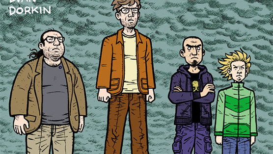 """It was an ugly birth of an ugly book"": Evan Dorkin on the Disgusting Fan Archetypes in <i>The Eltingville Club</i>"