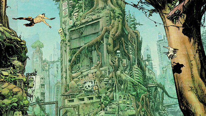 State of the Art: Sean Gordon Murphy Crafts Dystopian Sci-Fi Chaos and Jungle Havens in <i>Tokyo Ghost</I>