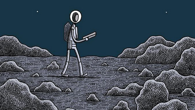 <i>Mooncop</i> Cartoonist Tom Gauld on Isolation, Nostalgia & Robot Cruelty