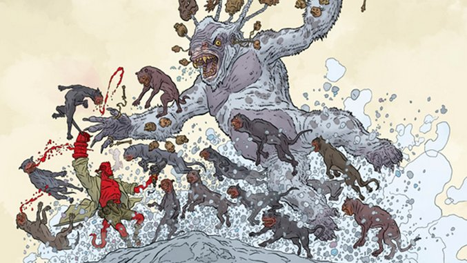Geof Darrow Unveils Chilly Chaos in <i>Hellboy Winter Special</i> Variant Cover
