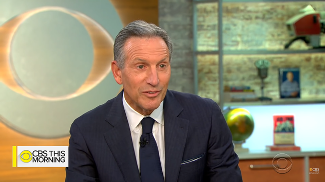 Why Is Major Media Carrying Water for Howard Schultz?