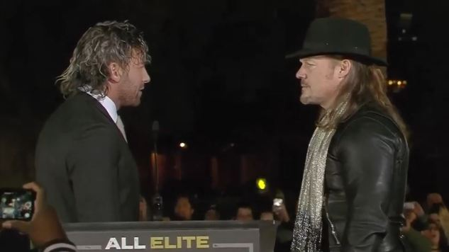 Kenny Omega and the Lucha Bros. Appear at All Elite Wrestling's Double or Nothing Ticket Announcement Party
