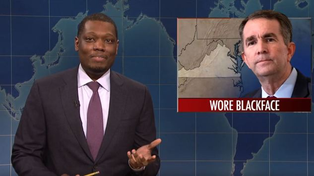 <i>SNL</i>'s Weekend Update Looks at Virginia's Blackface Problem