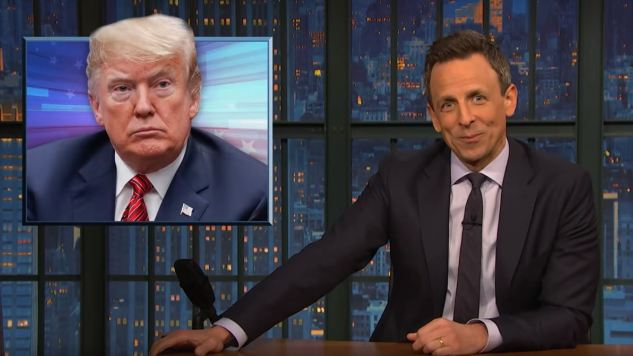 "Seth Meyers Takes a Closer Look at Trump's Attempt to ""Cause Chaos"" in the Democratic Primary"