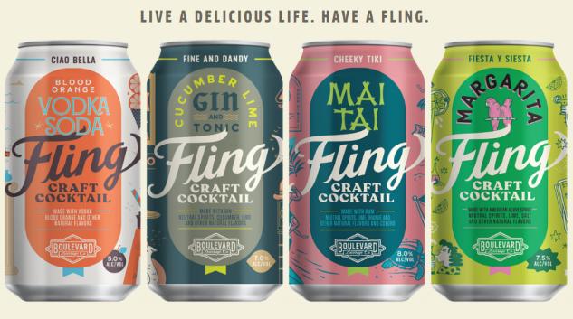 "Boulevard Brewing Co. Is Launching a Lineup of ""Fling Craft Cocktails"""