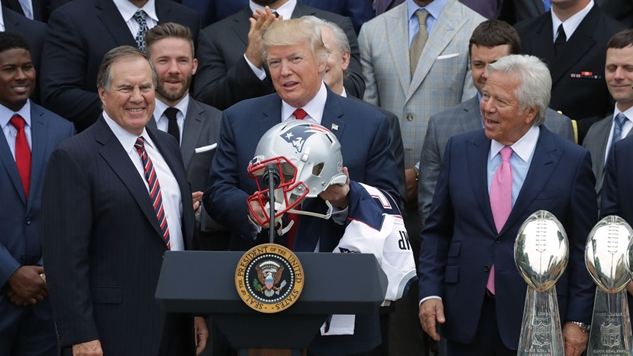 Trump watched Pats with founder of spa where Kraft was busted