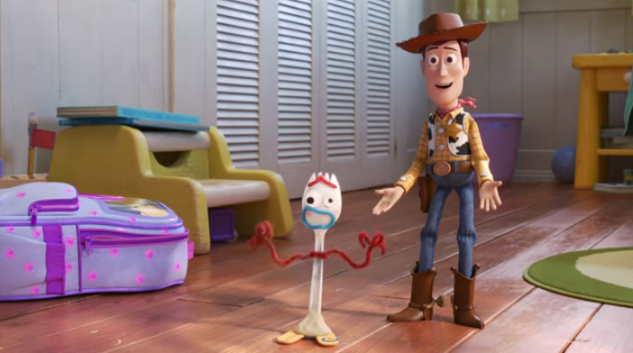 "Meet ""Forky"" the Spork in the First Full Trailer for <i>Toy Story 4</i>"