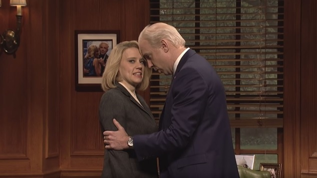 <i>SNL</i>'s Cold Open Features Jason Sudeikis as a Handsy Joe Biden