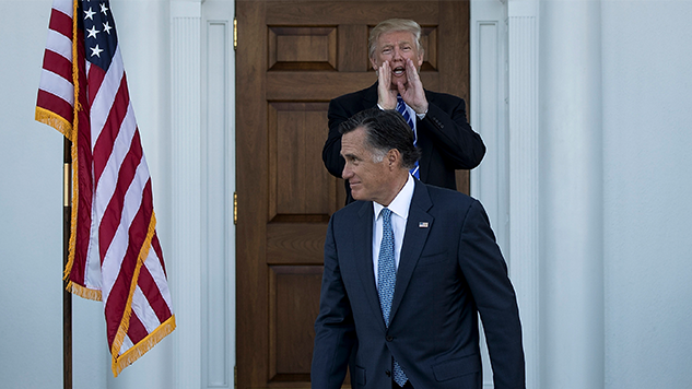 Rich Man Mitt Romney Sticks up for Fellow Rich Man Donald Trump on Tax Returns