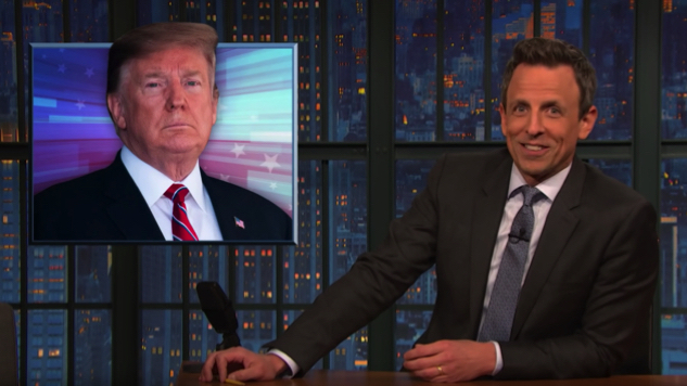 Watch Seth Meyers Take a Closer Look Inside the President's Immigration Advisor Clown Car