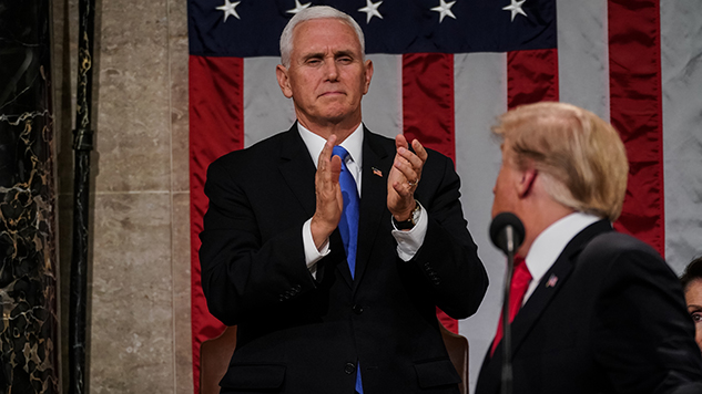 Mike Pence Stands By His Man, Even Behind Closed Doors