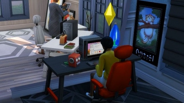 The Freelancer Career Path in The Sims 4 Is So Authentic I'm Gonna