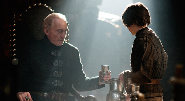 """Our Favorite Scenes in <i>Game of Thrones</i>: Arya Stark Tangles with Tywin Lannister, """"A Man Without Honor"""""""