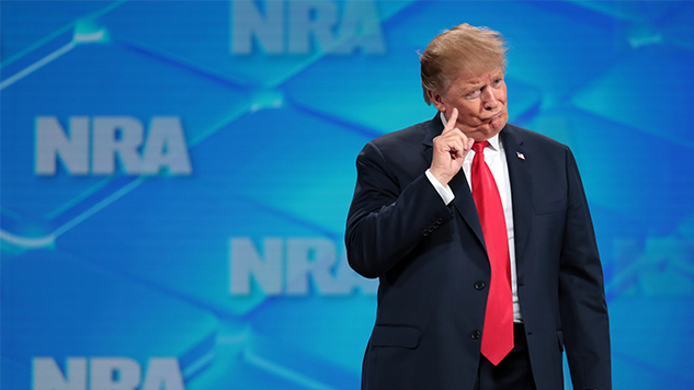Trump Announces He's Pulling the U.S. Out of U.N. Arms Treaty to Suck Up to the NRA