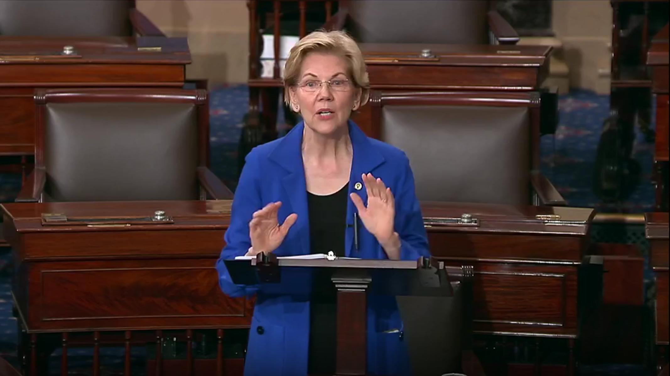 Elizabeth Warren Read Unredacted Portions of the Mueller Report on the Senate Floor