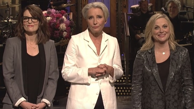 Tina Fey and Amy Poehler Help <i>SNL</i> and Emma Thompson Celebrate Mother's Day