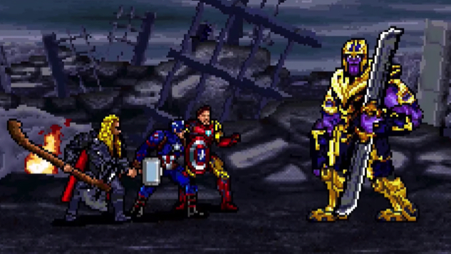 Amazing YouTuber-Created Video Reimagines Epic <i>Avengers: Endgame</i> Battle in 16-Bit