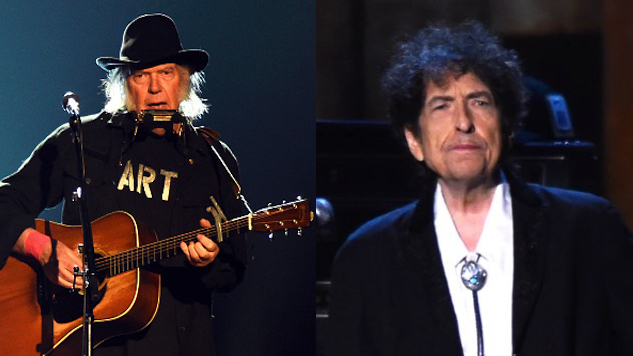 Watch Bob Dylan and Neil Young Share the Stage for the First Time in 25 Years
