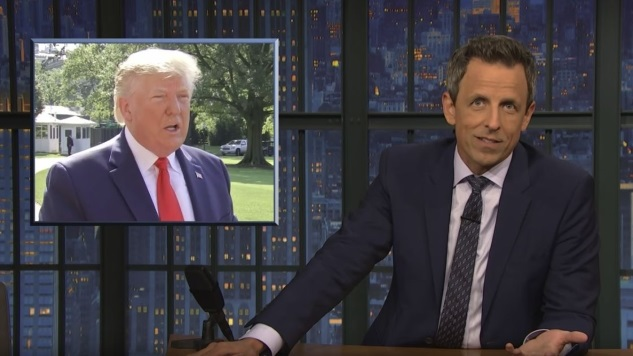 """Seth Meyers Takes """"A Closer Look"""" at Trump's Racist Tweets"""