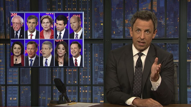 "Seth Meyers Takes ""A Closer Look"" at Last Night's Debate"