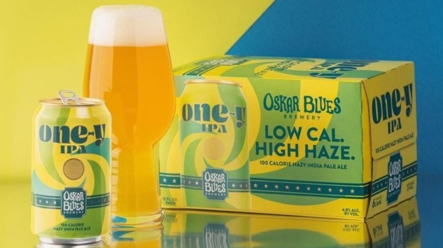 "Oskar Blues Is Latest to Jump on the Low-Cal IPA Train, with 100-Calorie ""One-y"" Hazy IPA"