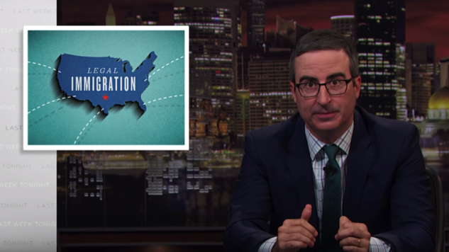 "John Oliver Takes a Hard Look at Legal Immigration and ""Coming Here the Right Way"" on <i>Last Week Tonight</i>"