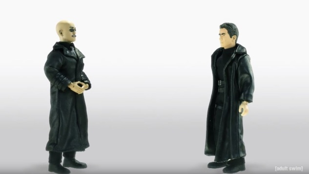 <i>The Matrix</i> Goes Crypto in This Exclusive Clip from <i>Robot Chicken</i>