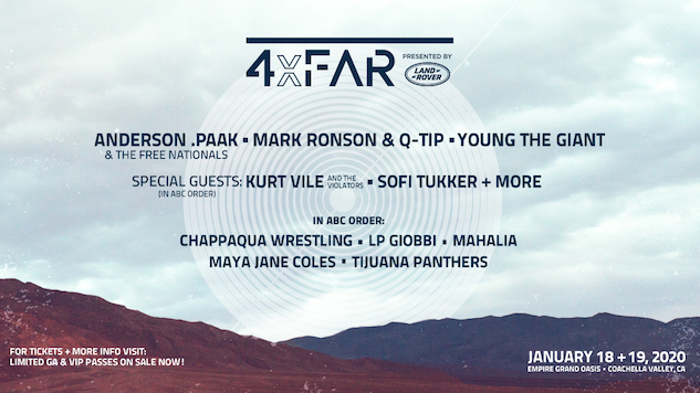 New Coachella-Area Festival, 4xFAR, Announces Lineup: Anderson .Paak, Mark Ronson & Q-Tip, Kurt Vile and More