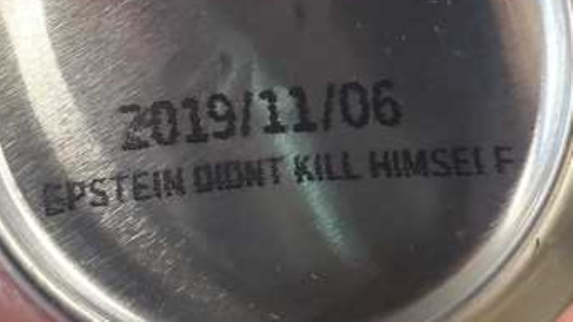 "A Fresno, CA Brewery Is Now Printing ""Epstein Didn't Kill Himself"" on the Bottom of Beer Cans"
