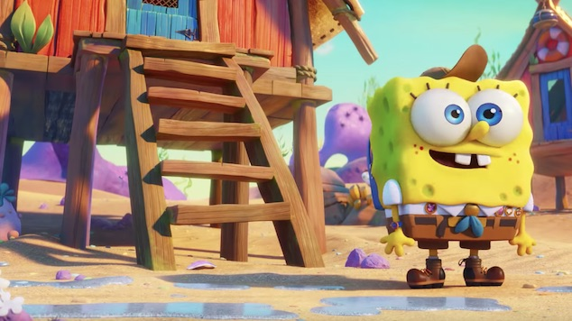 SpongeBob and Patrick Meet Keanu Reeves in First <i>Sponge On The Run</i> Trailer