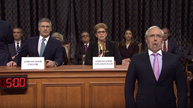 <i>SNL</i> Glams Up the Impeachment Hearings with Soap Opera Storylines and Jon Hamm