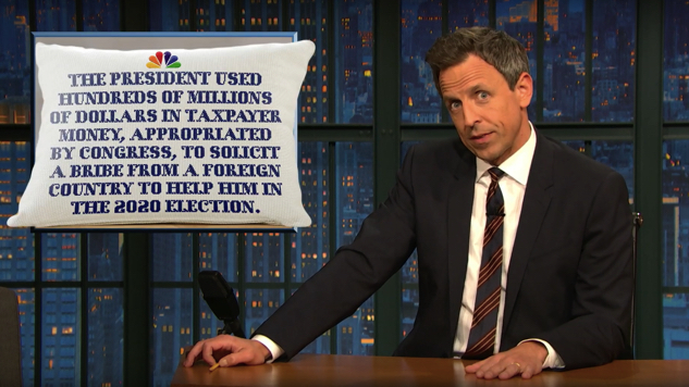 "Watch Seth Meyers Recap the ""Jaw-Dropping"" Second Week of Impeachment Hearings"