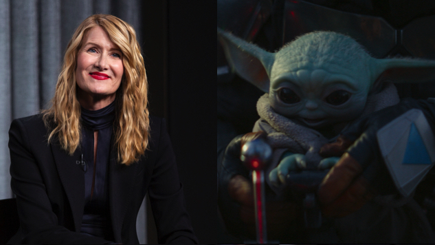 Laura Dern Claims to Have Seen Baby Yoda at a Basketball Game and We Have So Many Questions