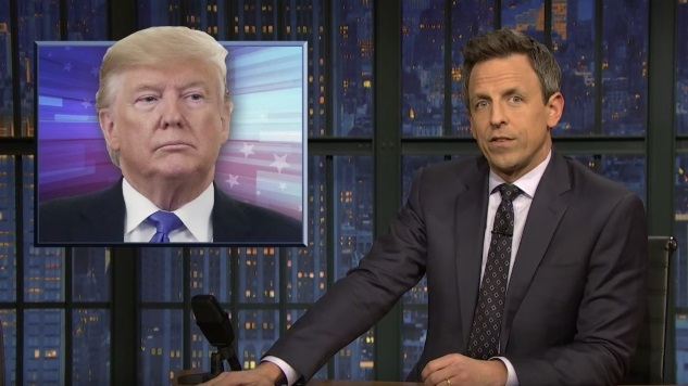 Seth Meyers Takes a Closer Look at Trump's Impeachment Rant at His Most Recent Unhinged Rally