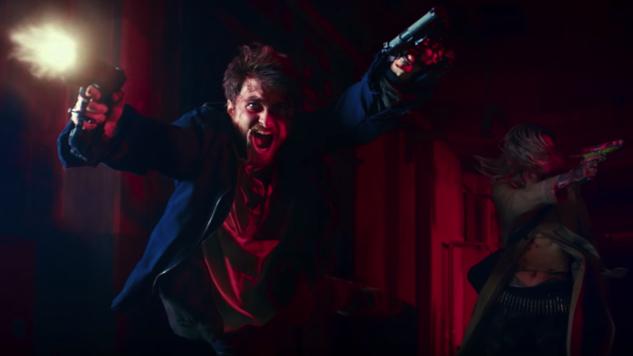 Daniel Radcliffe and Samara Weaving Shoot 'em up in Bonkers <i>Guns Akimbo</i> Trailer