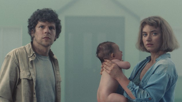Jesse Eisenberg and Imogen Poots Are Trapped in Suburbia in Freaky Trailer for <i>Vivarium</i>