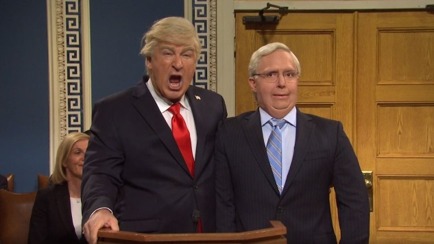 <i>Saturday Night Live</i> Imagines a Trump Impeachment Trial That's Somehow Even Worse than the Real One