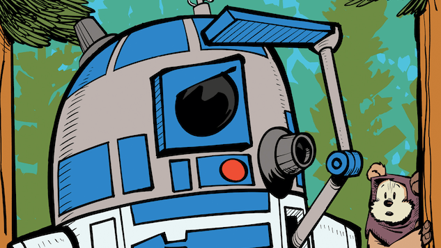 R2-D2 Protects an Ewok in These Illustrations from a New Picture Book