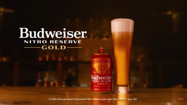 "Budweiser Unveils ""Nitro-Infused"" Nitro Reserve Gold Lager"