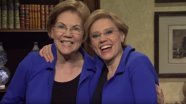 Elizabeth Warren Stops by <i>SNL</i> to Thank Her Supporters and Insult Bloomberg Again