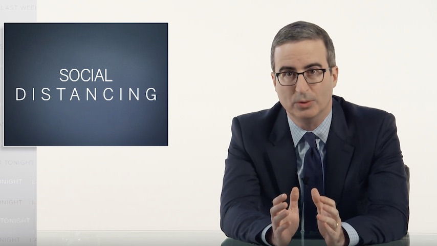 John Oliver Shoots Without a Live Audience in Latest Episode About the Coronavirus Pandemic