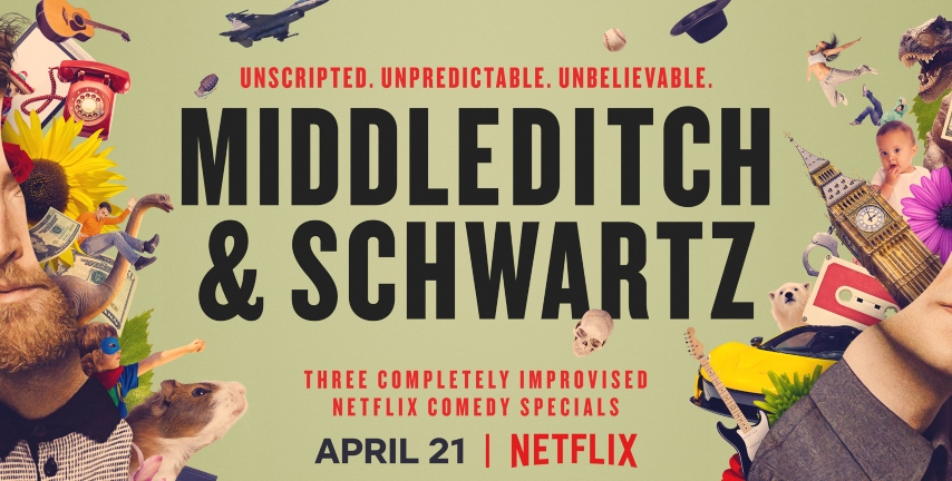 Netflix Releases Official Trailer For <i>Middleditch & Schwartz</i> Improv Specials