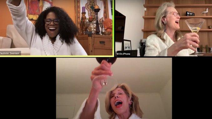 "Watch Meryl Streep, Christine Baranski & Audra McDonald Salute Sondheim With Boozy ""Ladies Who Lunch"" Rendition"