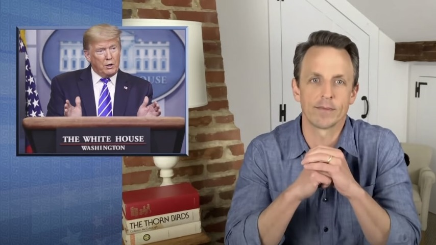 Seth Meyers Takes a Closer Look at Trump's Disinfectant Claims and Falling Poll Numbers