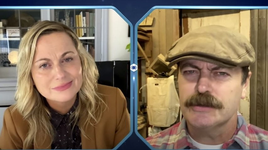 Watch Leslie Knope and Ron Swanson Have a Video Call in a Clip from the <i>Parks and Recreation</i> Reunion Special
