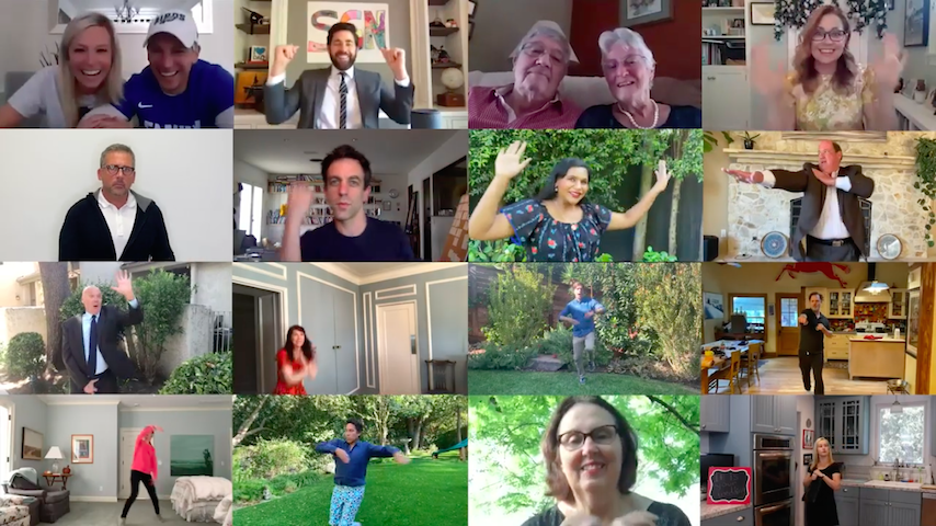 Watch <i>The Office</i> Cast Reunite for Zoom Wedding on John Krasinki's YouTube Show