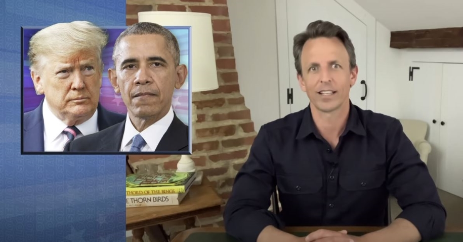"Seth Meyers Takes a Closer Look at Trump's Fake ""ObamaGate"" Nonsense and Obama's Criticism of the Coronavirus Response"