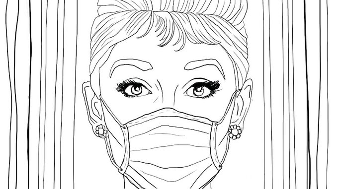 Coloring Quarantine: Download Coloring Pages Inspired By <i>Breakfast at Tiffany's</i>, <i>Tiger King</i> & More