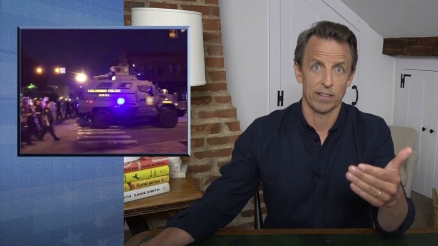 Seth Meyers Takes a Closer Look at Donald Trump Inciting Police Violence Against Protesters